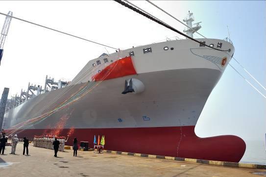 3月31日,公司为香港东方海外货柜航运有限公司建造的第六艘8888箱集